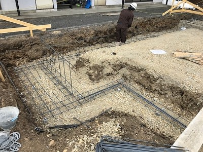 基礎工事スタートの画像