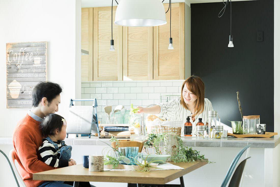 家族のコミニュケーションが取りやすい対面式