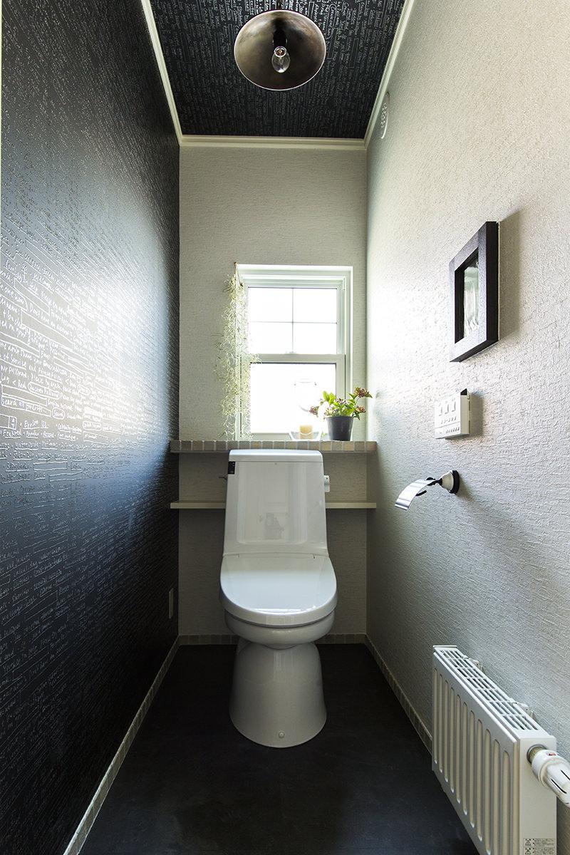 ニッチを埋め込んだおとな可愛いトイレ