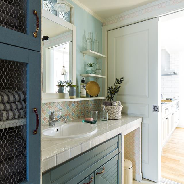 キッチンと繋がった家事動線が人気のユーティリティー