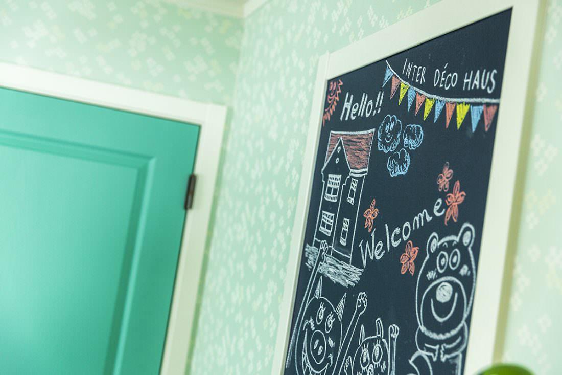 黒板塗装の壁で想像力が育つ子供部屋