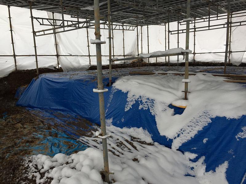 冬場の施工!の画像