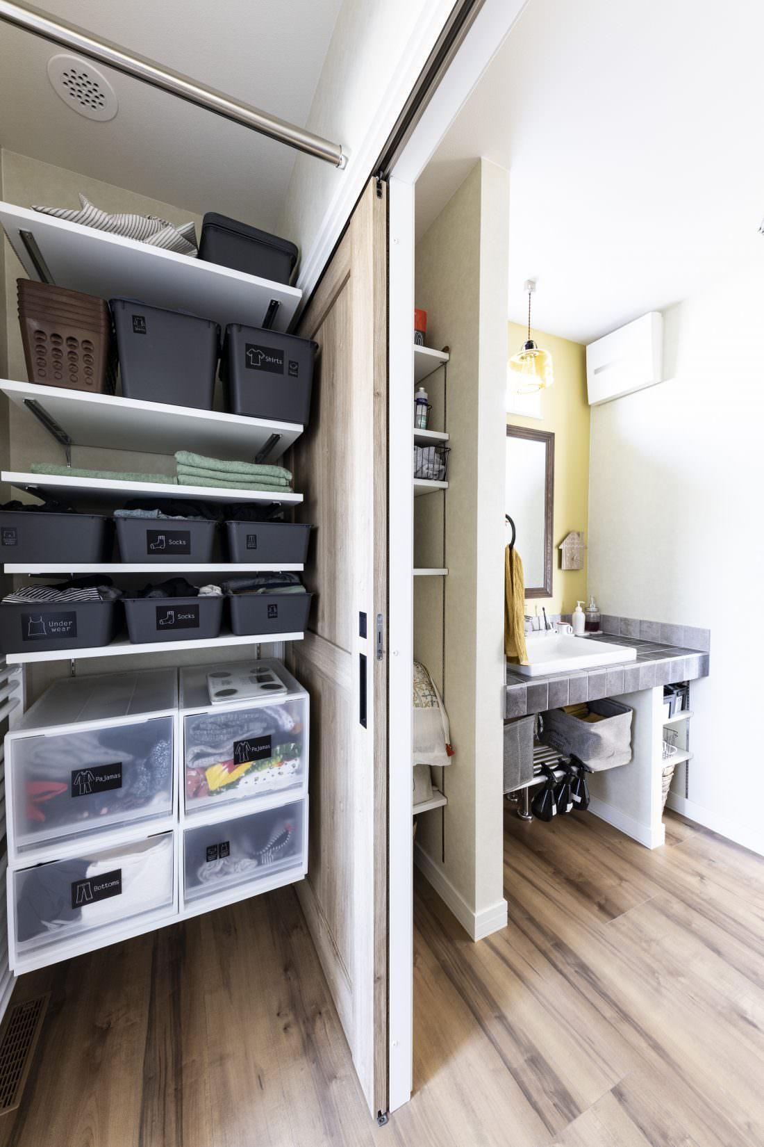 新築注文住宅インターデコハウスのユーティリティー施工事例写真