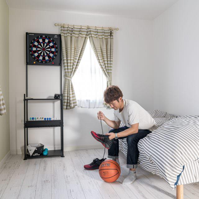 多趣味なご主人が使うお部屋は、将来、子供部屋になるそう。