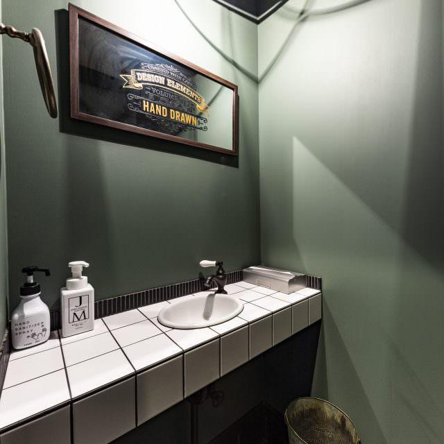 奥さまこだわりのトイレ内手洗い空間