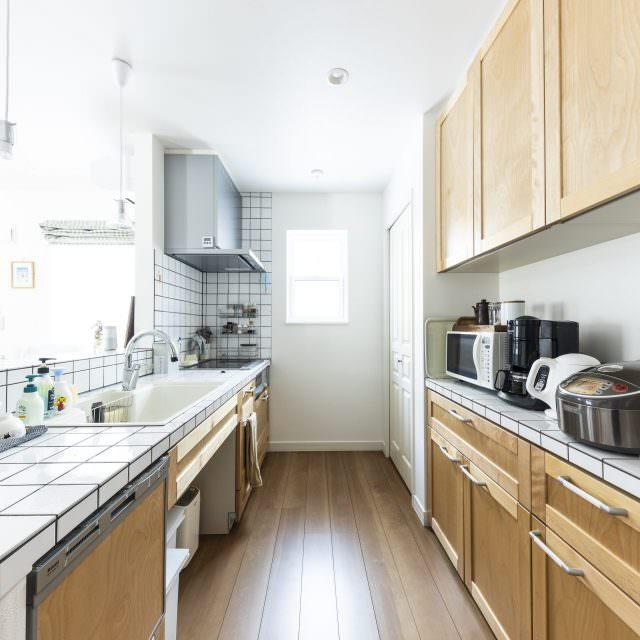 タイルキッチンが標準仕様の家