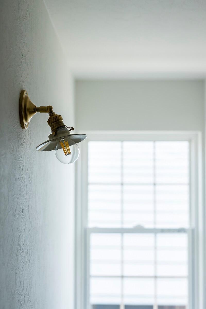 2階ホール部分に設けた照明。雰囲気抜群です◎